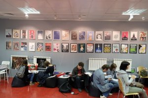 Photos of my works at comics exhibition